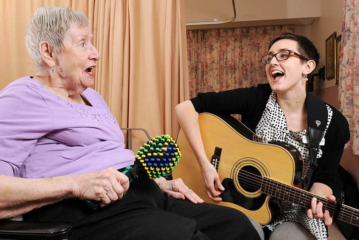 ASSISTED LIVING MESA FINDS MUSIC THERAPY HELPFUL WITH DEMENTIA
